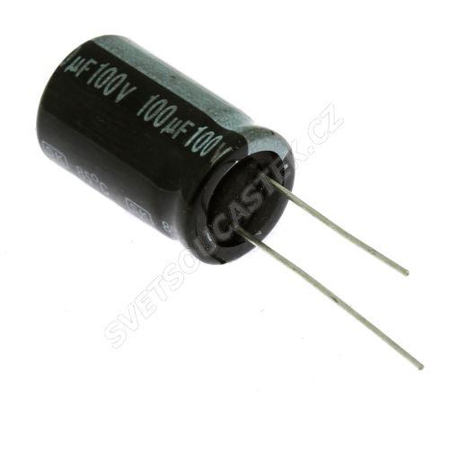Elektrolytický kondenzátor radiální E 100uF/100V 13x21 RM5 85°C Jamicon SKR101M2AJ21M