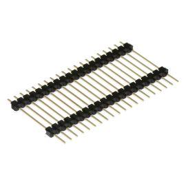 Lámací kolíková lišta jednořadá 20 pinů RM2.54mm pozlacená přímá Xinya 112-A-S S 20G [D 30mm]
