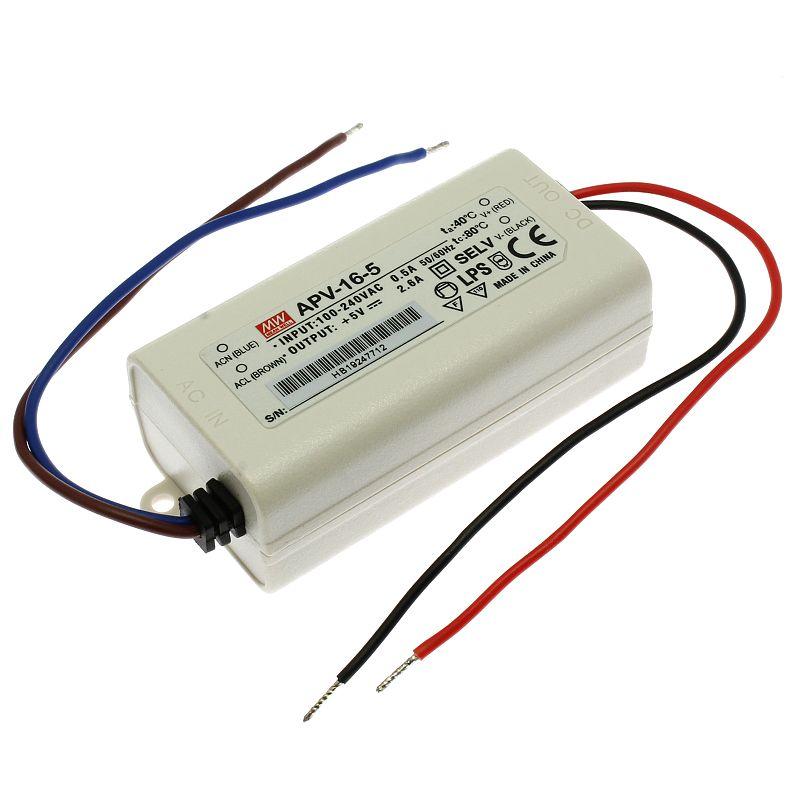 Mean Well Napájecí zdroj pro LED pásky Mean Well APV-16-5