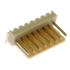 Konektor se zámkem 8 pinů (1x8) do DPS RM2.54mm úhlový 90° pozlacený Xinya 137-08 R G