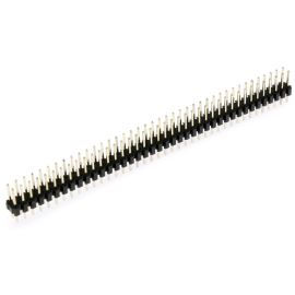 Lámací kolíková lišta dvouřadá 2x40 pinů RM2.54mm pozlacená přímá Xinya 112-A-D S 80G