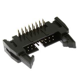 Konektor IDC pro ploché kabely 16 pinů (2x8) RM2.54mm do DPS úhlový 90° Xinya 119-16 G R K