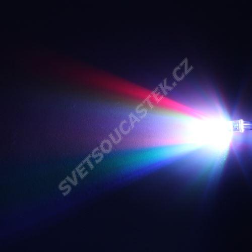 LED 5mm RGB 435/1080/390mcd/ 85~100° čirá spol. katoda Hebei 599R2GBC-CC
