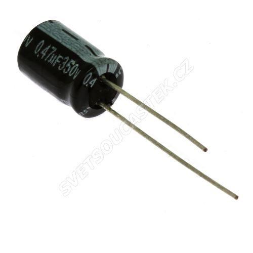 Elektrolytický kondenzátor radiální E 0.47uF/350V 8x11 RM3.5 85°C Jamicon SKRR47M2VF11VH