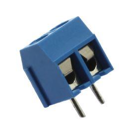 Šroubovací svorkovnice do DPS 2 kontakty 16A/300V RM 5.0mm modrá barva Xinya XY301V-A(5.0) 2P