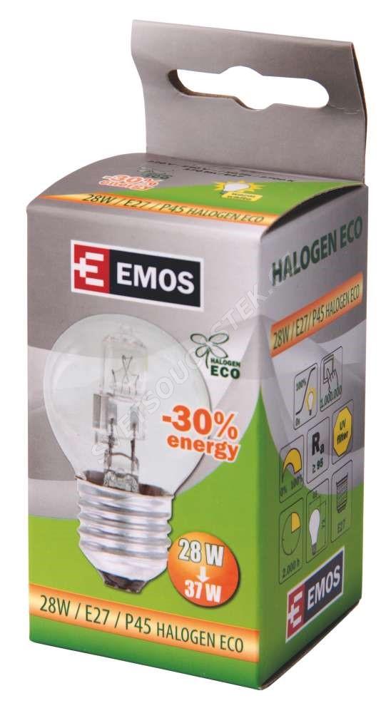 Halogenová žárovka ECO 28W E27/230V MINI GLOBE P45 Emos