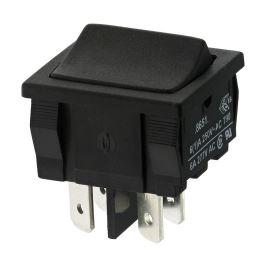 Kolébkový spínač do panelu spínací 2-pólový OFF-(ON) 6A/250V AC Arcolectric H8651VBAAB