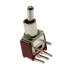 Páčkový spínač do DPS úhlový přepínací 1-pólový ON-OFF-ON 3/1.5A 125/250V AC Jietong  SMTS-103-2C3