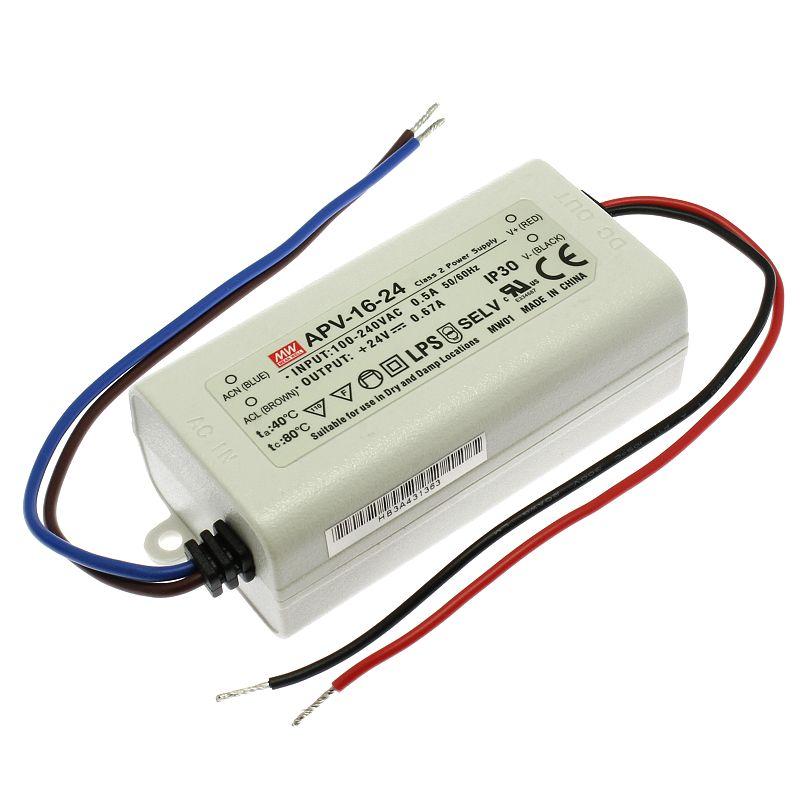 Mean Well Napájecí zdroj pro LED pásky Mean Well APV-16-24