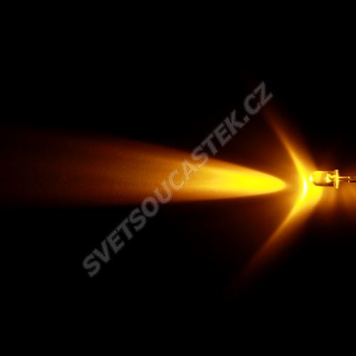LED 5mm žlutá 12000mcd/13° čirá Hebei 510PY9C