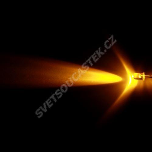 LED 5mm žlutá 8000mcd/23° čirá Hebei 520PY9C