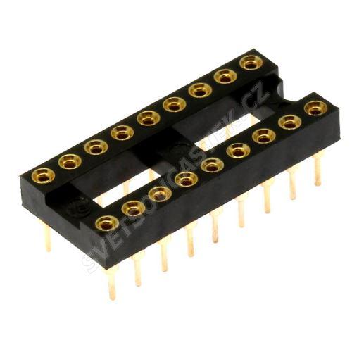 Precizní patice pro IO 18 pinů úzká DIL18 Xinya 126-3-18RG