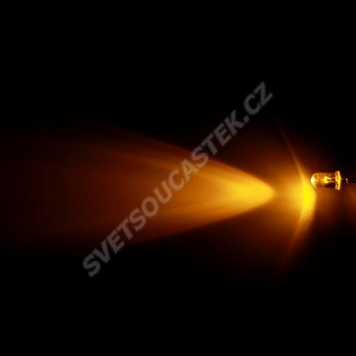 LED 5mm žlutá 8000mcd/30° čirá Hebei 530PY9C