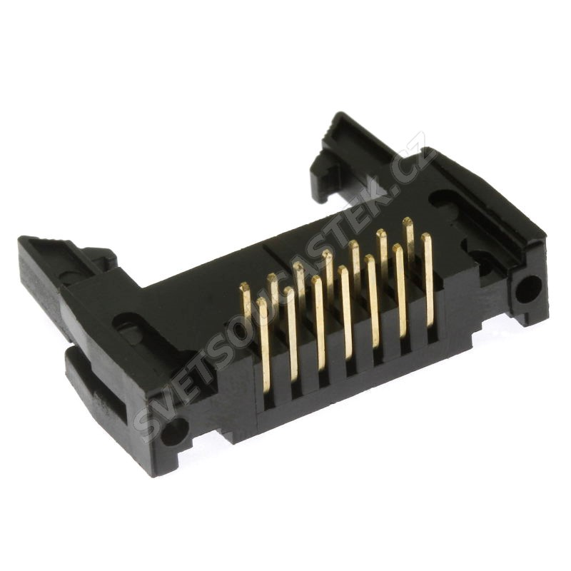 Konektor IDC pro ploché kabely 14 pinů (2x7) RM2.54mm do DPS úhlový 90° Xinya 119-14 G R K
