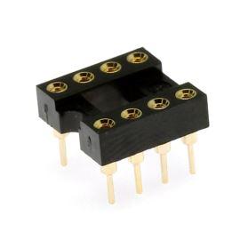Precizní patice pro IO 8 pinů úzká DIL8 Xinya 126-3-08RG
