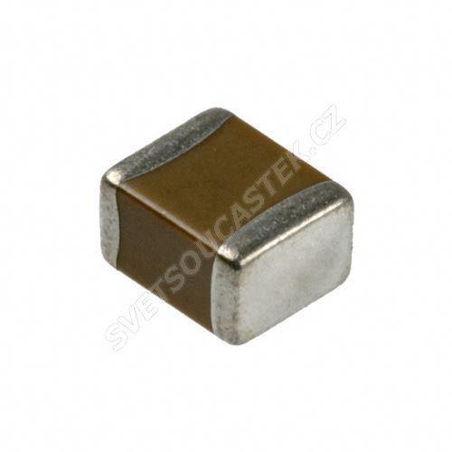 Keramický kondenzátor SMD C1206 100nF X7R 100V +/-10% Yageo CC1206KKX7R0BB104