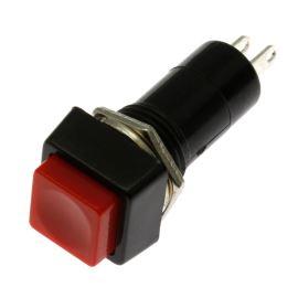 Tlačítkový spínač do panelu přímý spínací 1-pólový ON-OFF 1A 125/250V AC Jietong  PBS-12A RED