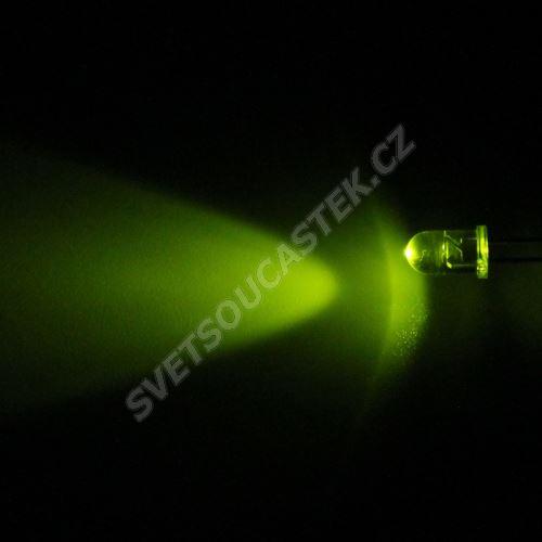 LED 5mm zelená 800mcd/30° čirá Hebei 530AG7C