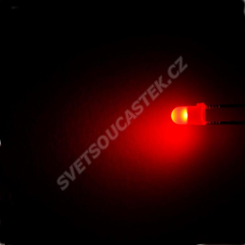 LED 3mm červená 100mcd/30° difúzní Optosupply OSR5JW3134A