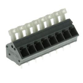 Svorkovnice s tlačítkem do DPS šedá 250V/16A WAGO 256-408