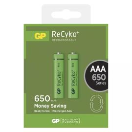 Nabíjecí baterie GP ReCyko+ 650 HR03 (AAA), 2 ks v blistru