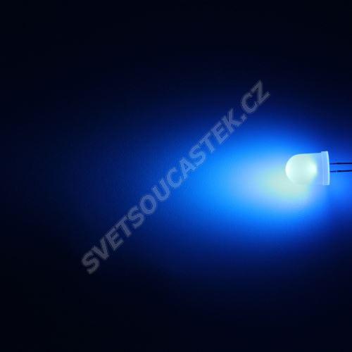 LED 10mm modrá 770mcd/50° difúzní Hebei 105LB7D