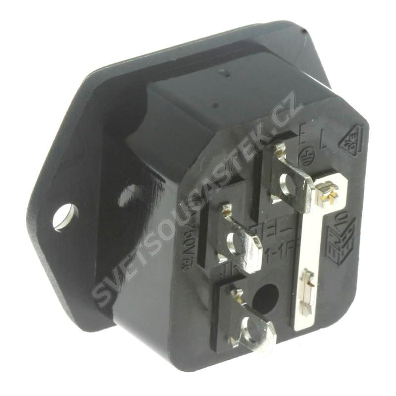 Napájecí konektor EURO vidlice s pojistk. pouzdrem GSI-2