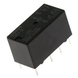 Elektromagnetické relé s DC cívkou do DPS 5VDC 0.5A/125VAC Omron G5V-2 5VDC