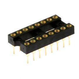 Precizní patice pro IO 16 pinů úzká DIL16 Xinya 126-3-16RG