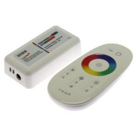 Regulátor RGB LED pásků s dálkovým dotykovým ovladačem RF 2.4 Ghz