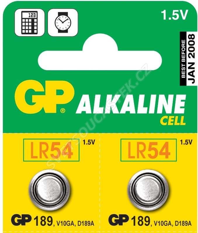 Alkalická gombíková batéria GP LR54 (189)
