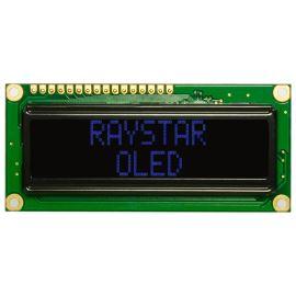 Alfanumerický OLED displej Raystar REC001602ABPP5N00000