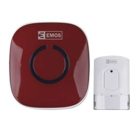 Bezdrátový domovní zvonek červený Emos P5718R
