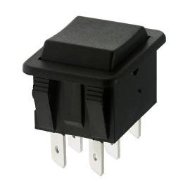 Kolébkový spínač do panelu přepínací 2-pólový (ON)-OFF-(ON) 16A/250V AC Bulgin C1572ABAAA