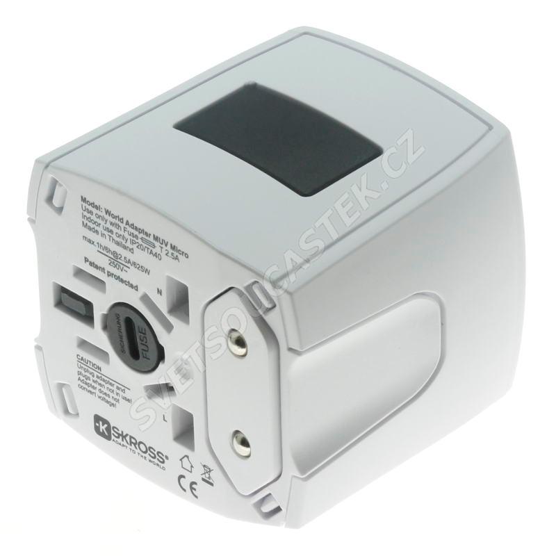 Cestovní adaptér univerzální 3-pólový SKROSS SKR1103140