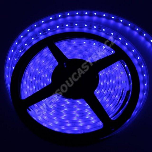 LED pásek modrá, SMD 3528, 60LED/m (balení 5m) - vodotěsný (silikon) STRF 3528-60-B-IP66