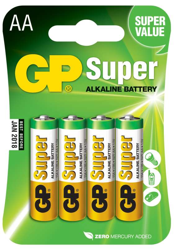 GP Super Alkaline AA 4ks 1013214000