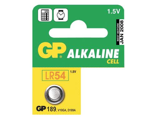 GP Batteries Alkalická knoflíková baterie GP LR54 (189)