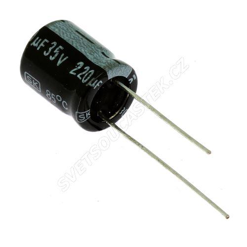 Miniatur-Elkos radial 35V 20% 85°C (SKR221M1VG13M)