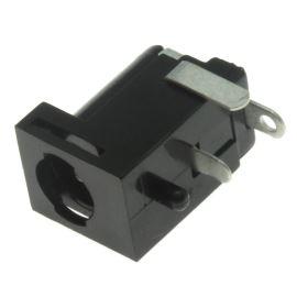 Napájecí konektor souosý 5.5/2.1mm vidlice úhlová 90° do DPS se spínačem Schurter 4840.2202