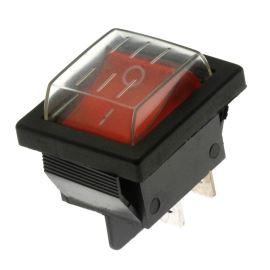 Kolébkový spínač do panelu IP44 spínací 2-pólový ON-OFF 20A 12V DC Jietong  IRS-201-1C3D-R/B+ WPC-08
