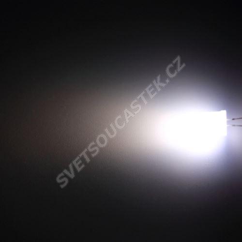LED 10mm stud. bílá 2000mcd/50° difúzní Hebei 105XW7D