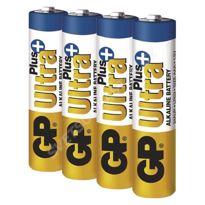 Alkalická batéria GP Ultra Plus LR03 (AAA), 4 ks v blistri