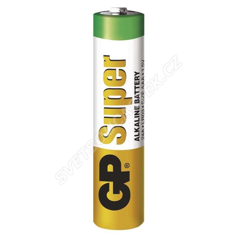 Alkalická baterie GP Super LR03 (AAA), 4 ks v blistru