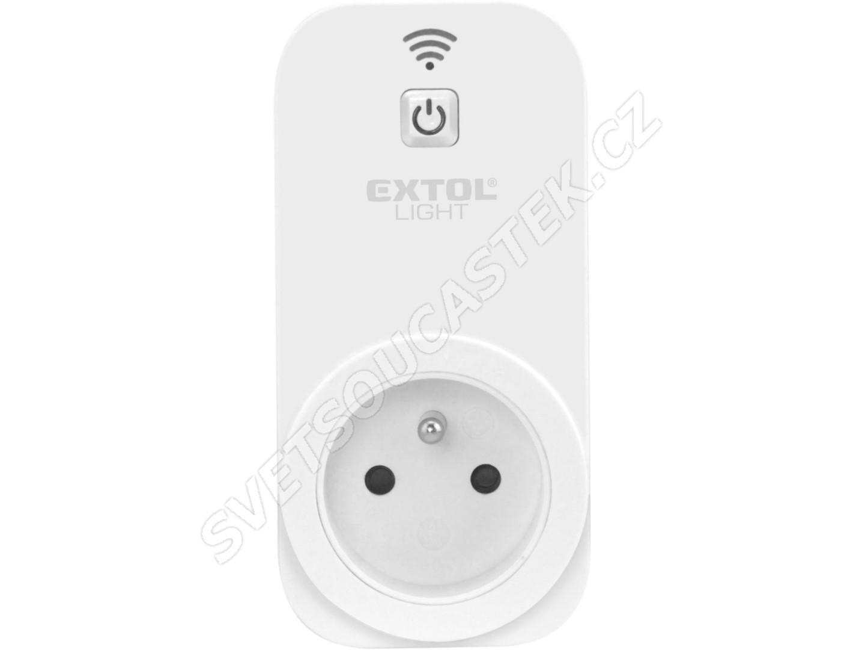 Zásuvka ovládáná Wi-Fi  Wi-Fi 802.11 b/g/n  max. 3680W Extol Light 43800