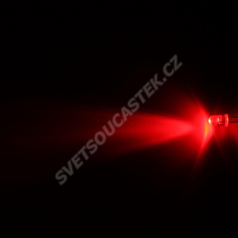LED 5mm červená 4000mcd/30° čirá Hebei 530MR2C