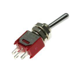 Páčkový spínač do panelu přepínací 1-pólový ON-ON 3/1.5A 125/250V AC B070B