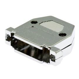 Kryt konektoru CANON 25 pinů plastové tělo, chromovaný povrch Xinya 158-25 P C
