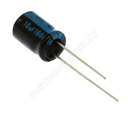 Elektrolytický kondenzátor radiální E 10uF/160V 8x11.5 RM3.5 105°C Jamicon TKR100M2CFBBM