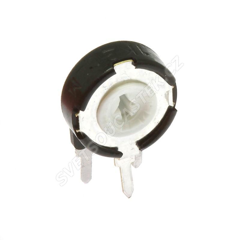 Uhlíkový trimr 10mm lineární 500 Ohm stojatý 20% Piher PT10LH01-501A2020S